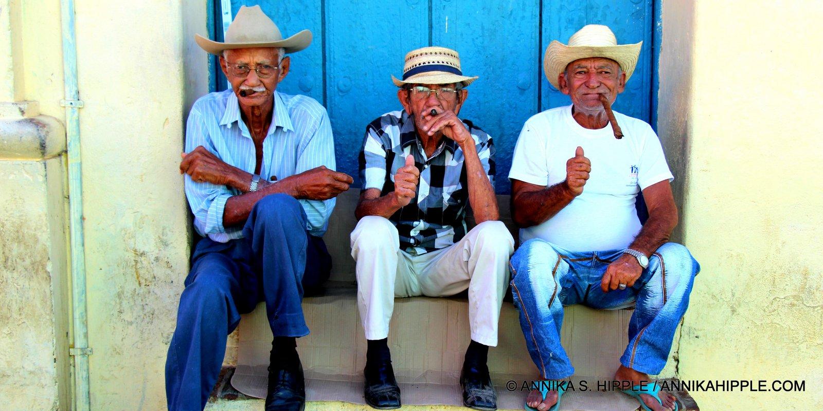 Cuban men with cigars